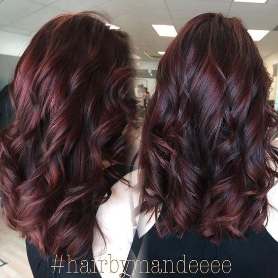 Burgundy Hair Colors & Styles