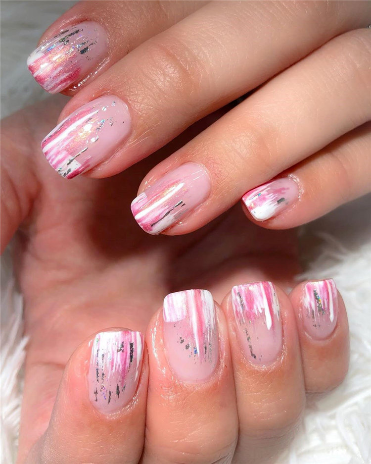 To give you some nail art inspiration, we have found 42 simple spring nail ideas. There is a mix of designs featured from flowers nails to french nails. So, take a look and find a beautiful pring nail design. #springnails #naildesigns #nails